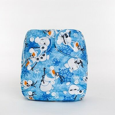 Modern Cloth Reusable Washable Baby Nappy Diaper & Insert, Frozen