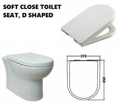 Luxury Soft Slow Close Toilet Seat D Shape Wc Seats Shiny Stainless Steel Hinges