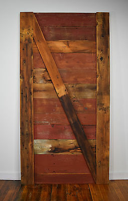 Hand Made  RECLAIMED BARN WOOD Barn Door CUSTOM INTERIOR or EXTERIOR BARN DOOR
