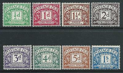 D1-8, Royal Cypher Postage Due Set Of 8 Fine Mounted Mint