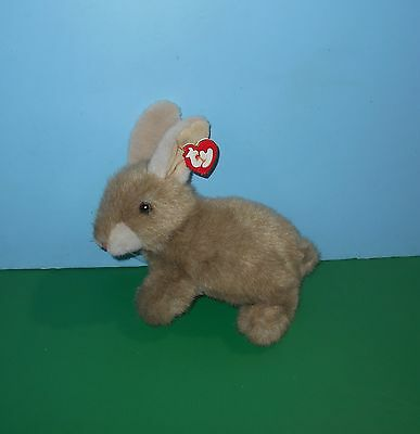 """10"""" TY Beanie Babies Classic 1997 Buttons the Rabbit Hare Bean Plush w/ Tag"""