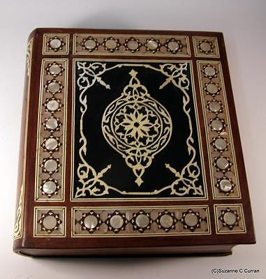 Old Middle Eastern Islamic Arabesque Inlaid Mother of Pearl Wooden Large Box