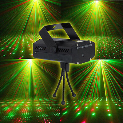 Mini LED Stage RG Laser Lazer Projector Lighting Disco DJ Club Birth Party Light