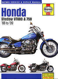 Honda VT 600 750 Haynes Manual Repair Manual Workshop Manual 1988-2009