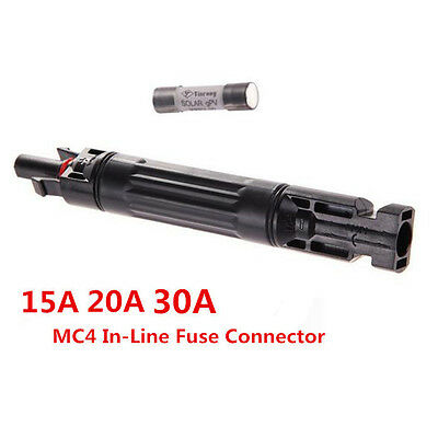 Good New MC4 In-line Fuse Connector 1000 VDC Male to Fem PV Solar Fuse Holder