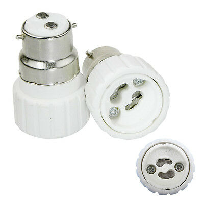 2pcs LAMP LIGHT SOCKET Converter B22 to GU10 SCREW WD