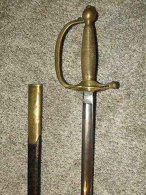 Antique 1863 U.S. Civil War M1840 NCO Officer's Sword & Scabbard - C. Roby & Co.