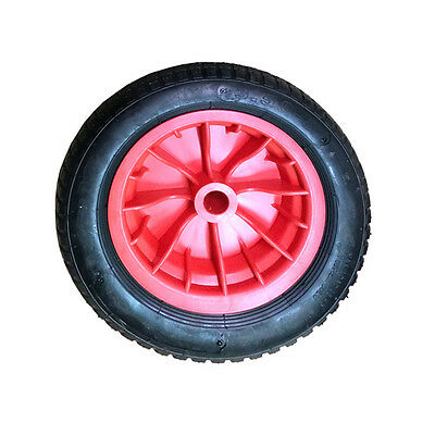"""2x 14"""" Wheelbarrow Wheel Pneumatic Inflatable Tyre 3.50-8 REPLACEMENT RED DCUK"""