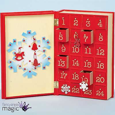*Wooden Christmas Snowman Snowflake Book Countdown Advent Calendar Decoration*