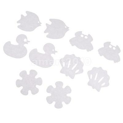 10Pcs Cartoon Safety Bath Tub Treads Non Slip Applique Stickers Bathroom Mat