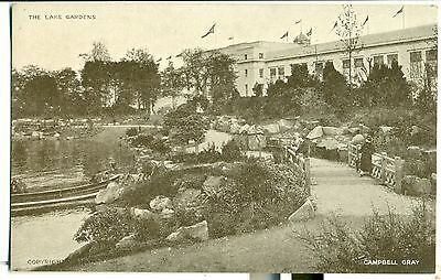 POSTCARD EXHIBITIONS British Empire 1924  The Lake Gardens