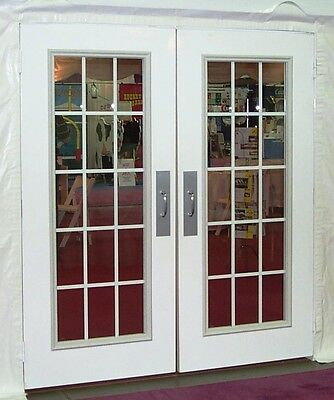 7' Tall, White Double Doors
