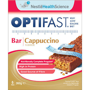 Optifast VLCD Bars Cappuccino 60G x 6 Pack NEW Cincotta Chemist