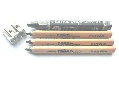 Lyra Ferby 3 Pencils + Lyra Graphite Pencils 2B + Double Hole Sharpener