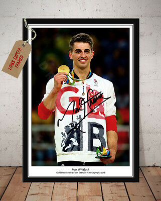 Max Whitlock Gymnastic Gold Rio Olympics 2016 Autographed Signed Photo Print