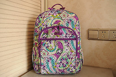 New with Tag VERA BRADLEY Campus Backpack in Disney Plums Up Mickey print