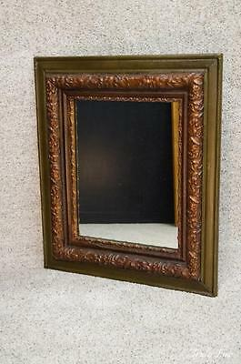 19th Century Antique Victorian Deep Frame Gilded Mirror Holly & Floral Garland