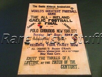 GAA All Ireland Final Cavan V Kerry, 1947 New York - Worlds Greatest Game Print