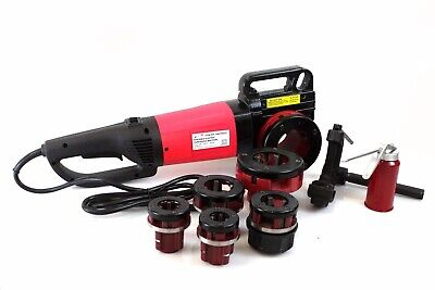 "2000W Portable Electric Pipe Threader w/ 6 Dies Threading Machine 1/2"" to 2"" NPT"