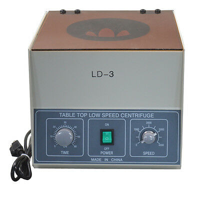 CA Seller LD-3 Electric Benchtop Centrifuge Lab Medical Practice 6*50ml 4000rpm