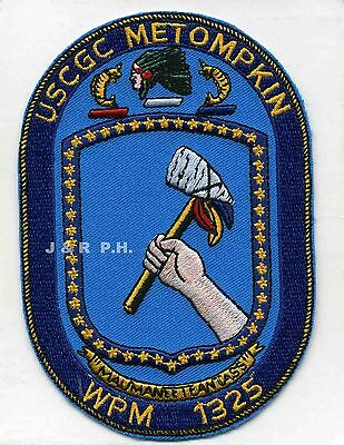 "USCG Coast Guard Patch - Cutter Metompkin  WPB-1325 (3.5"" x 5"") (fire)"