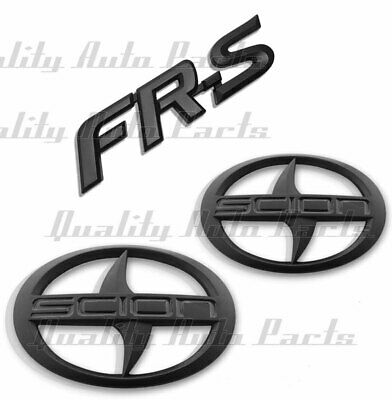 3pc Set BRAND NEW SCION FR-S Front and Rear Black Badge Emblem FRS F/R PAIR FGB