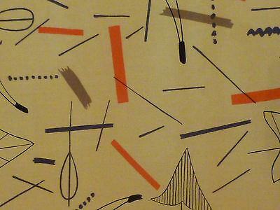 Lucienne Day - HC6237    2 METRES UNUSED DRESS FABRIC yellow colourway