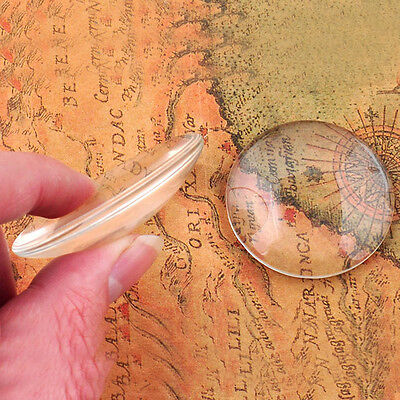 8mm TO 25mm Clear Glass Cabochon Dome Flat Back Magnify Base Cover For Making