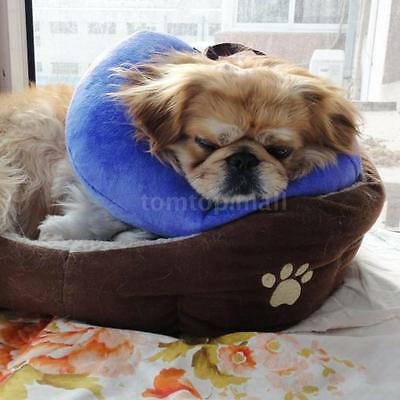 Soft Inflatable Protective Pet Dog Cat Head Cone Recovery Collar L/S/M Size B4D1