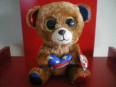 Ty Beanie Boos STARS bear 6 inch NWMT.Cracker Barrel Exclusive.