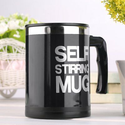 400ml Stainless Self Stirring Mug Auto Mixing Drink Tea Coffee Cup With Lid GT