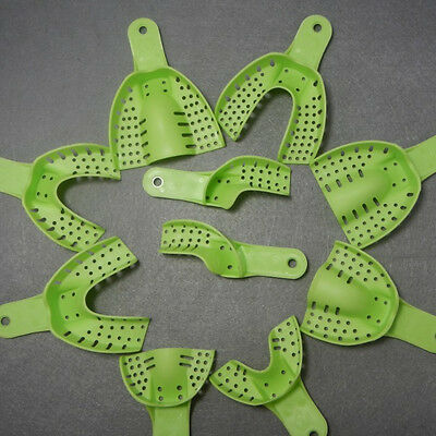 1 Set Dental Disposable Impression Tray Perforated Autoclavable Central Denture