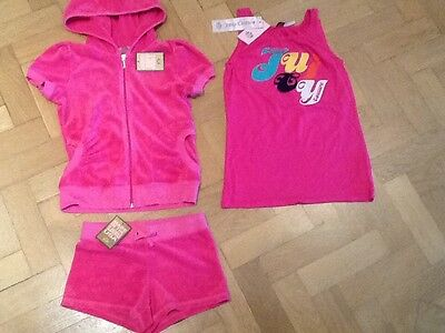 NWT Juicy Couture New & Gen. Girls Age 8 Cotton Track Suit With T-Shirt & Logo