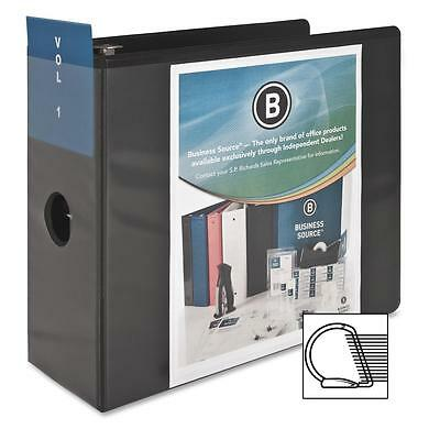 "Business Source D-Ring View Binder 5"" Capacity 11x8-1/2"" Black 28451"