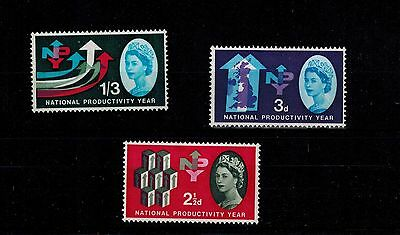 STAMP 1962 NPY PHOSPHOR set U/M CAT£35 PHOS SG631p - 633p