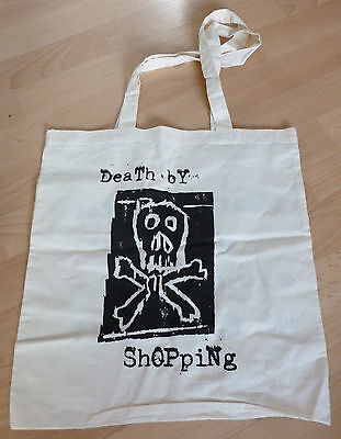 Billy Childish - Death by shopping   ARTIST DESIGNED TOTE BAG