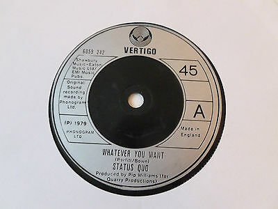 """Status Quo - Whatever you want    UK 7"""""""