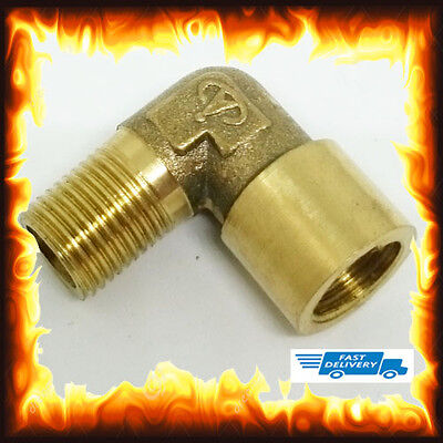 """1/8"""" BSP Male to Female 90 Elbow Hose Tail Fitting Fuel Air Gas Water Hose Oil"""
