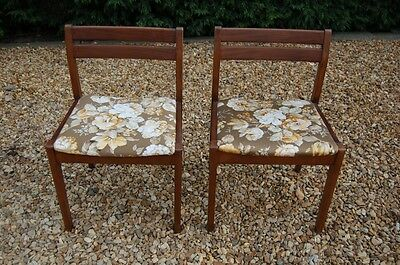 Vintage Pair of Danish Inspired Teak Chairs - Retro - 60's 70's - Mid Century