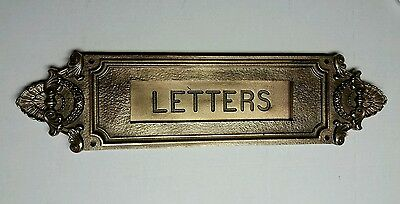 Big Antique Heavy Cast Bronze letter slot over 100 years old!!!