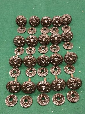 20 Antique Eastlake cast iron Interior Shutter cabinet  Knobs pulls backplates