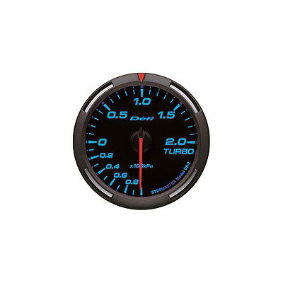 Defi 60Mm Racer Turbo Boost Gauge Blue