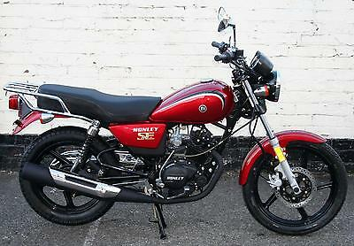 BRAND NEW HONLEY HD-3 125cc MOTORCYCLE RED