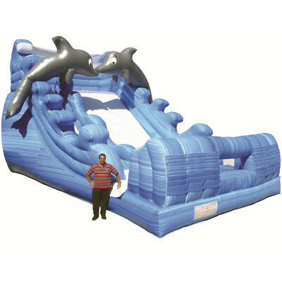 Giant Dolphin Splash - Commercial Water Slide by Inflatable Depot - 3 years wty!