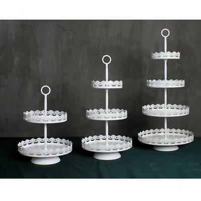 Vintage Cupcake Stand Wedding Party Cake Display Decoration White 2/3 Tier