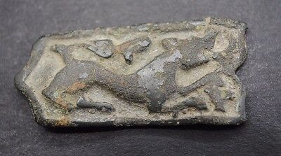 Ancient Viking Bronze Zoomorphic Belt Mount 10Th - 12Th Century Ad