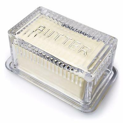 "2 Piece 7.5"" Glass Covered Butter Dish"