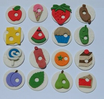 16 edible HUNGRY CATERPILLAR INSPIRED cake topper CUPCAKE DECORATIONS book theme