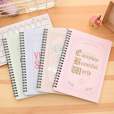 A5 Spiral Coil Notebook Diary Ruled School Vintage Student Note Book Memo Pad