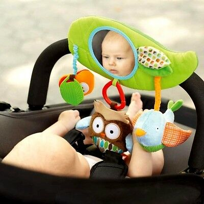 Baby Toys Rattle Bed Bell Stroller Hang Crib Toys with Teether BB Device